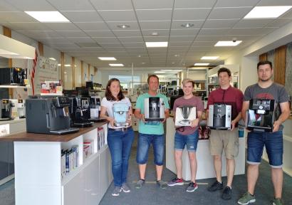 Verkauf von Kaffeevollautomaten von Jura, Nivona, Saeco, Delonghi und Siemens