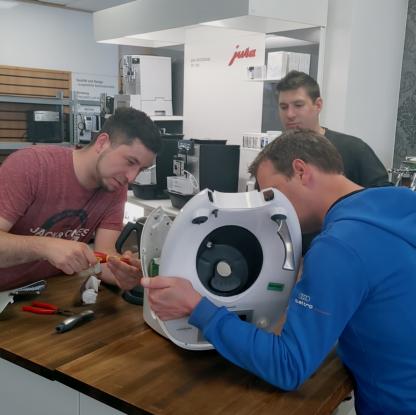 Unser Caffista Team für die Thermomix Reparatur Esslingen